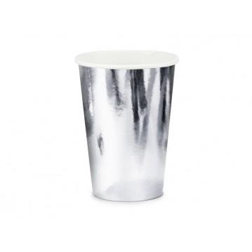 6 stk Papbæge sølv 22cl