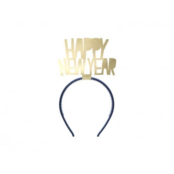 """Headband Happy New Year, gold"""