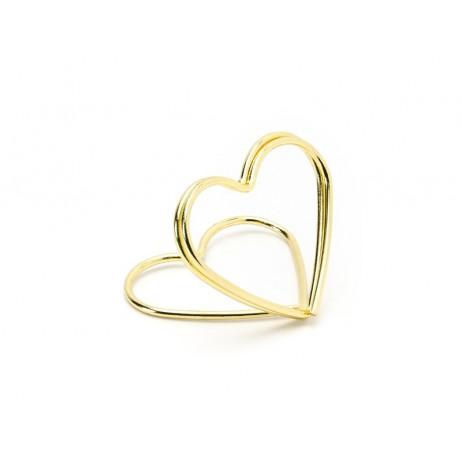10 stk Bordkortholder hjerte guld