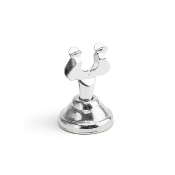 """Place card holder, silver, 4cm"""