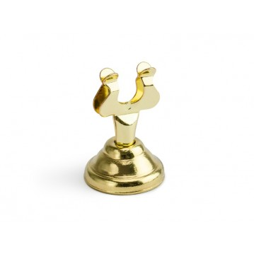 """Place card holder, gold, 4cm"""