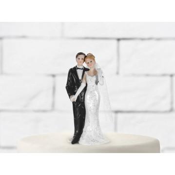 Bryllupsfigur smukt brudepar 11 cm