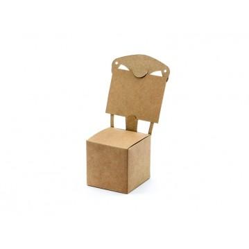10 Stk Gaveæske - Natural stol, kan bruges som bordkort