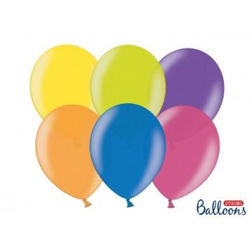 "100 stk Metallic mix farver balloner - str 9"""