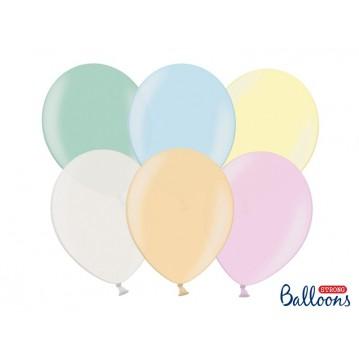 "100 stk Perle mix farver balloner - str 9"""