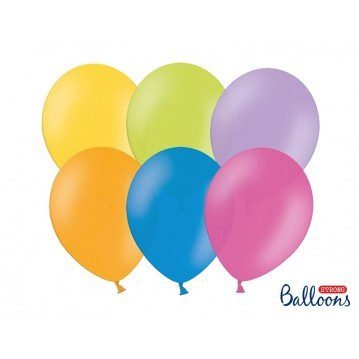"100 stk Standard mix farver balloner - str 9"""