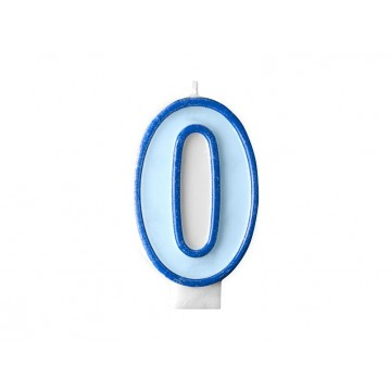 "Fødselsdagslys ""0"" - blå"