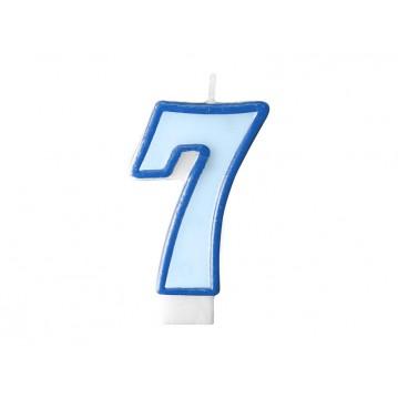 "Fødselsdagslys ""7"" - blå"