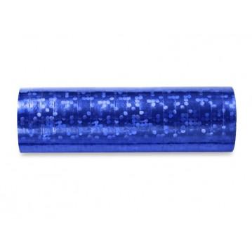 Serpentiner holografisk blå 3.8 m (1 rl/18 stk)