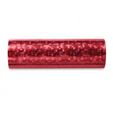 Serpentiner holografisk rød 3.8 m (1 rl/18 stk)