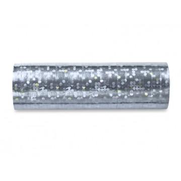 Serpentiner holografisk sølv 3.8 m (1 rl/18 stk)