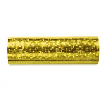Serpentiner holografisk guld 3.8 m (1 rl/18 stk)