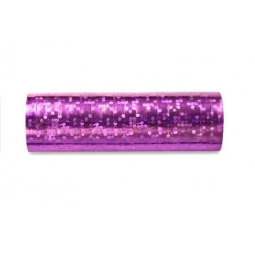 Serpentiner holografisk lys pink 3.8 m (1 rl/18 stk)