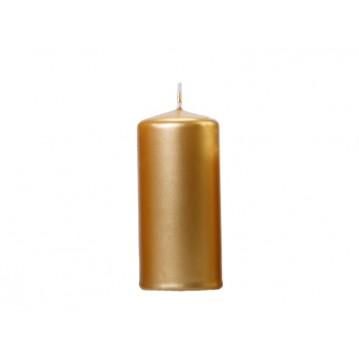 6 stk Metallic Bloklys 12 cm - Guld