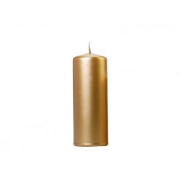 6 stk Metallic Bloklys 15 cm - Guld