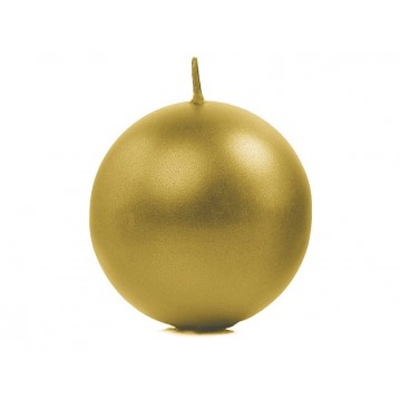 """""""Candle Sphere, metallic, gold, 8cm (1 pkt / 6 pc.)"""""""