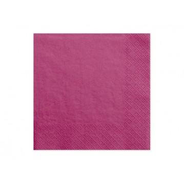 20 stk. Mørk pink frokostservietter