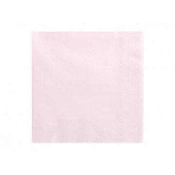20 stk. Lys rosa frokostservietter