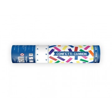 Konfettirør - Mix farvet streamers papir 20 cm