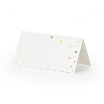 10 stk bordkort med guld stjerner