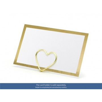 10 stk bordkort med guld ramme
