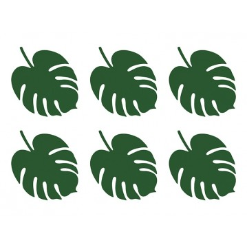 Bordkort aloha - monstera 6 stk
