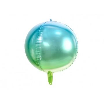 """Folieballon bold 4D - blå/grøn 16"""""""