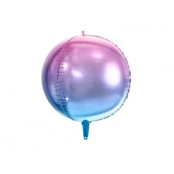 "Folieballon bold 4D - lilla/blå 16"""