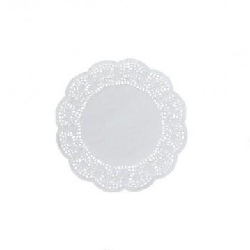 100 stk Kopunderlag hvid 10cm