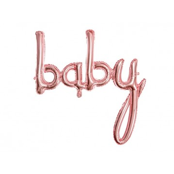 """Foil balloon Baby, rose gold, 73.5x75.5cm"""