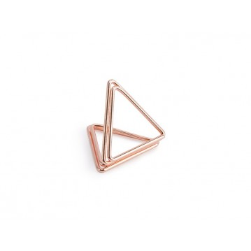 10 stk Bordkortholder trekant rose guld
