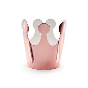 6 stk Kroner i rosa guld