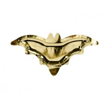 6 stk Paptallerken Bat guld, 37.5x18.5cm