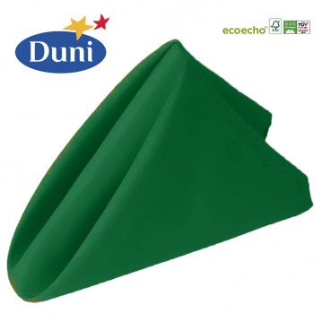 12 stk Mørkegrøn Dunisoft middagsservietter