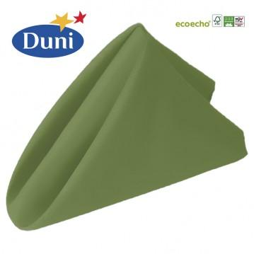 12 stk Leaf Green Dunisoft middagsservietter