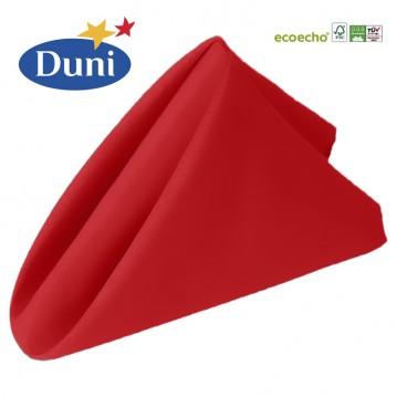 12 stk Rød Dunisoft middagsservietter