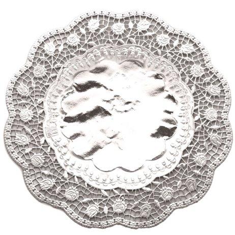 100 stk Kagepapir 36cm Sølv