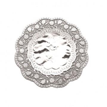 100 stk Kagepapir 17cm Sølv