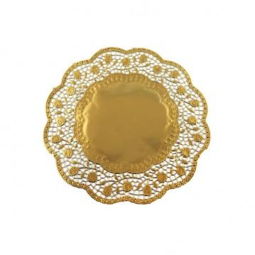 100 stk Kagepapir 17cm Guld