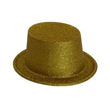 Guld hat 15 cm høj