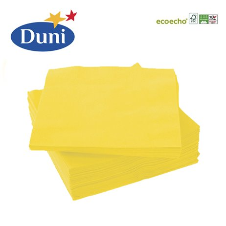 50 stk. Gul Duni frokostservietter - Prof