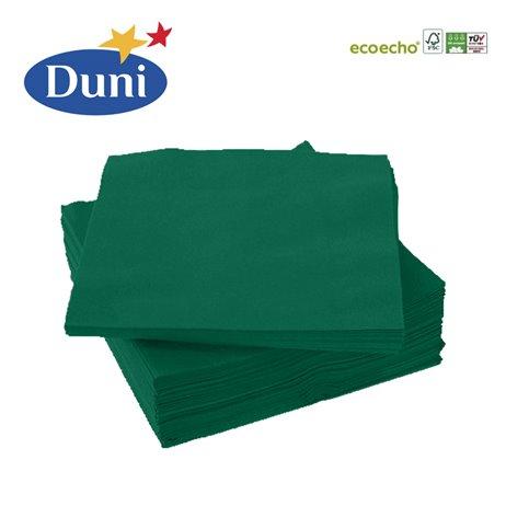 20 stk. Mørkegrøn Duni frokostservietter