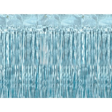 Lysblå lametta - dørforhæng - 90x250cm