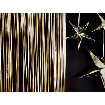 Guld lametta - dørforhæng - 90x250cm