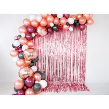 Rose guld lametta - dørforhæng - 90x250cm