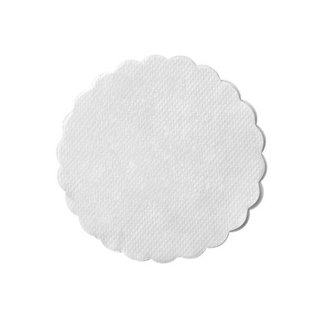 25 stk. Kopunderlag hvid 9 cm