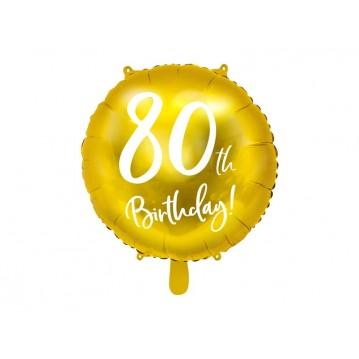 """80 års fødselsdag folieballoner 18"""""""