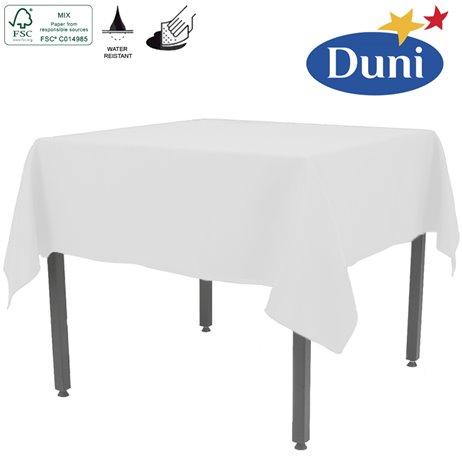 Hvid Dunisilk borddug 138 x 220 cm