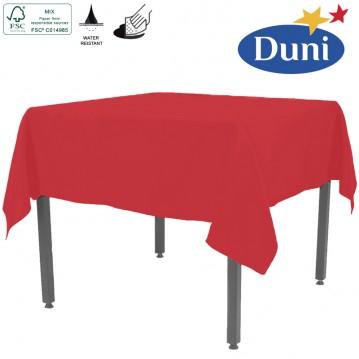 Rød Dunisilk borddug 138 x 220 cm