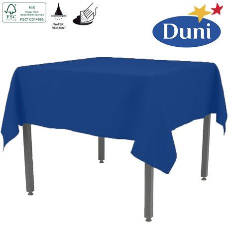 Mørkeblå Dunisilk borddug 138 x 220 cm